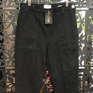 FRAME Denim Flare De Francois Black Jeans